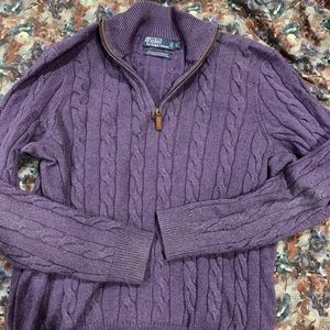 Polo by Ralph Lauren purple sweater Men's Large